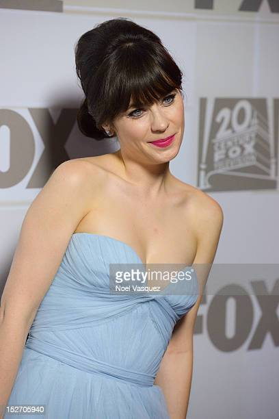 Zooey Deschanel attends the Fox Broadcasting Company Twentieth Century Fox Television and FX Emmy Party at Soleto on September 23 2012 in Los Angeles...