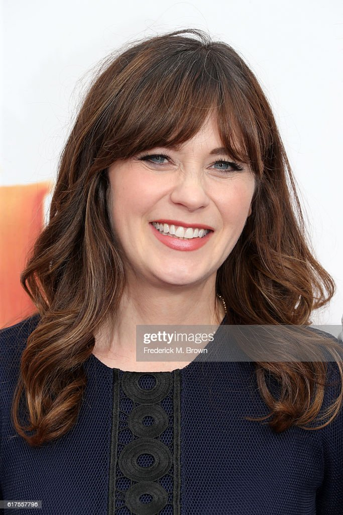 Zooey Deschanel attends the premiere of 20th Century Fox's 'Trolls' at Regency Village Theatre on October 23, 2016 in Westwood, California.
