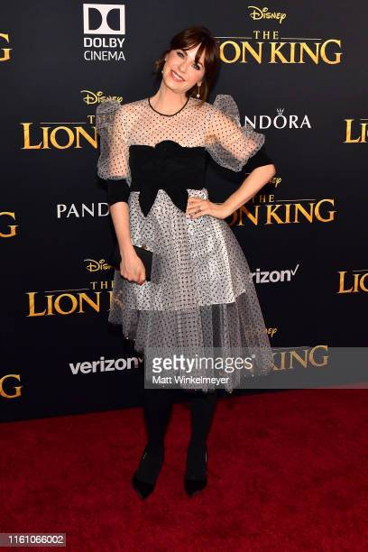 Zooey Deschanel attends the premiere of Disney's The Lion King at Dolby Theatre on July 09 2019 in Hollywood California