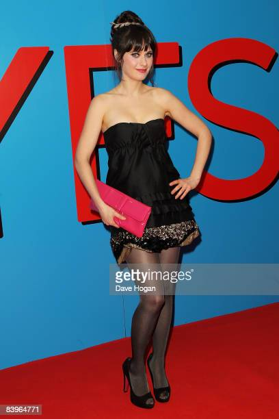 Zooey Deschanel attends the premiere of 'Yes Man' at the Vue cinema Leicester Square on December 9 2008 in London England