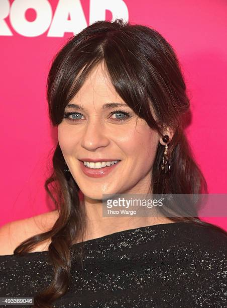 Zooey Deschanel attends the Rock The Kasbah New York Premiere at AMC Loews Lincoln Square 13 theater on October 19 2015 in New York City