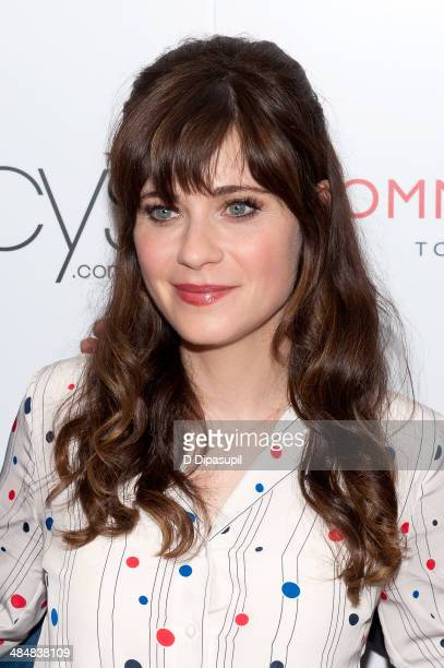 Zooey Deschanel attends the To Tommy From Zooey Collection launch at Macy's Herald Square on April 14 2014 in New York City