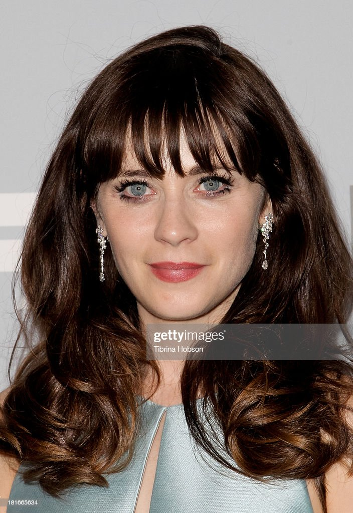 Zooey Deschanel attends the Twentieth Century FOX Television and FX Emmy Party at Soleto on September 22, 2013 in Los Angeles, California.