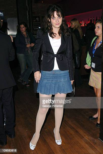 Zooey Deschanel during 2004 Toronto International Film Festival Fox Searchlight Party Hosted by Gucci in Toronto Ontario Canada