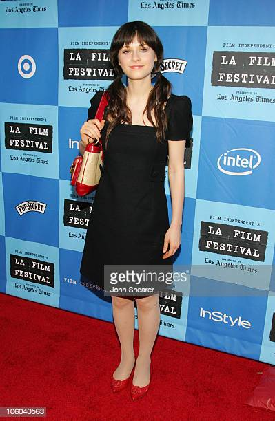 Zooey Deschanel during 2006 Los Angeles Film Festival 'Little Miss Sunshine' Screening at Wadsworth Theater in Westwood California United States