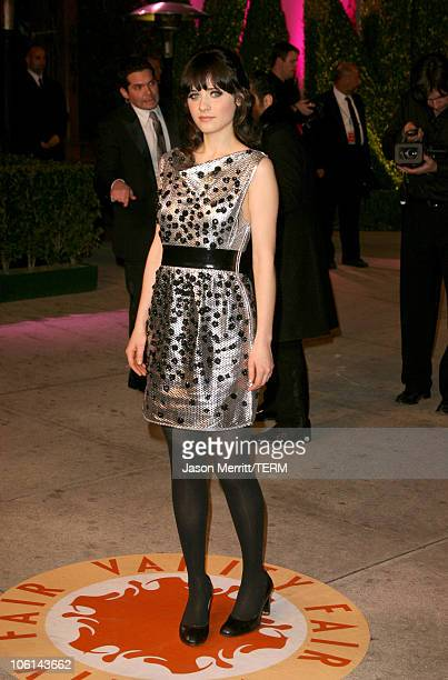 Zooey Deschanel during 2007 Vanity Fair Oscar Party Hosted by Graydon Carter at Mortons in West Hollywood California United States