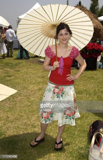 Zooey Deschanel during Cabana PreMTV Movie Awards Beauty Buffet Day One at Private Residence in Hollywood California United States