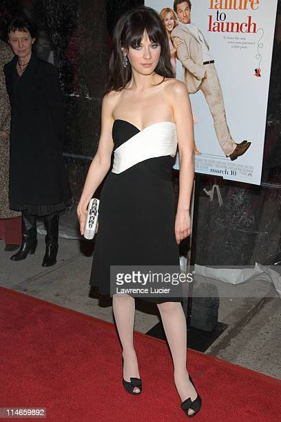"""Zooey Deschanel during """"Failure to Launch"""" New York City Premiere - Arrivals at Clearview Chelsea West Theater in New York, New York, United States."""