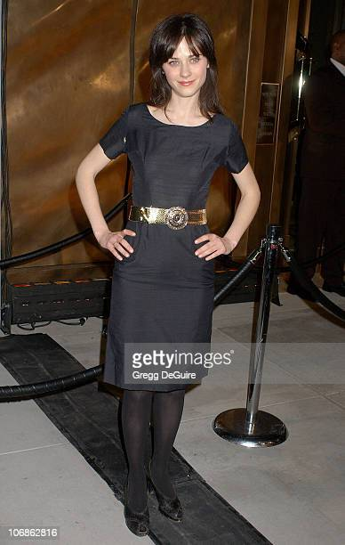 Zooey Deschanel during Harry Winston Celebrates The Opening Of Their New Beverly Hills Flagship Store Arrivals at Harry Winston in Beverly Hills...