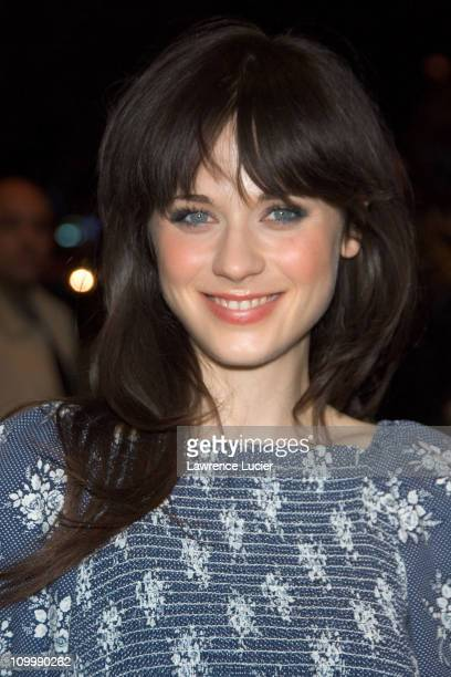 Zooey Deschanel during Live Free or Die New York City Screening Arrivals at Clearview Chelsea West in New York City New York United States