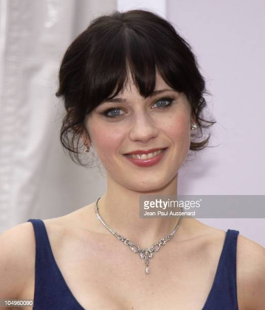 Zooey Deschanel during Los Angeles Opera's Placido Domingo Friends Concert Gala at Dorothy Chandler Pavilion in Los Angeles California United States