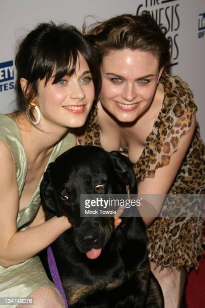 Zooey Deschanel Emily Deschanel and Katrina the dog