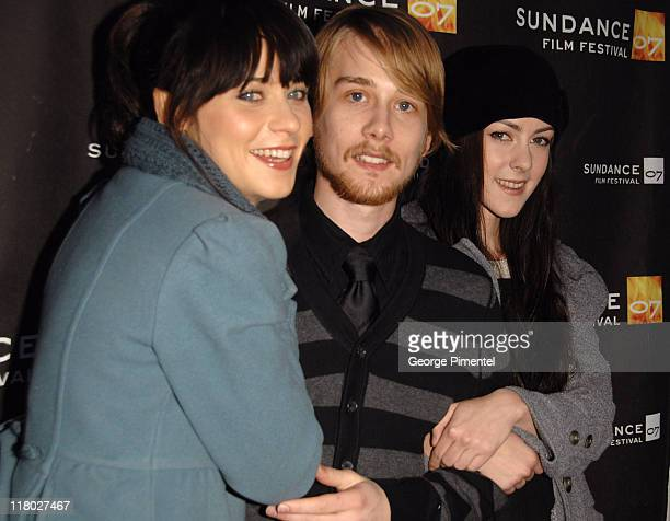 Zooey Deschanel Lou Taylor Pucci and Jena Malone during 2007 Sundance Film Festival 'The GoGetter' Premiere at The Library Theatre in Park City Utah...