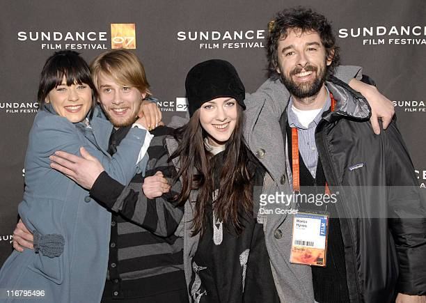 Zooey Deschanel Lou Taylor Pucci Jena Malone and Martin Hynes director of 'The GoGetter'