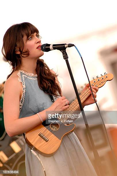 Zooey Deschanel of She and Him performs during the 9th annual Forecastle Festival at Waterfront Park on July 11, 2010 in Louisville, Kentucky.