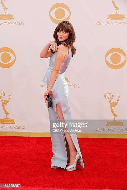 Zooey Deschanel on the Red Carpet for the 65th Primetime Emmy Awards which will be broadcast live across the country 8001100 PM ET/ 500800 PM PT...