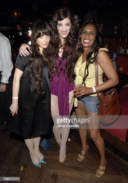 Zooey Deschanel Sarah Sophie Flicker and Ronin during Declare Peace A Peace Games Benefit Featuring The Citizen's Band at The Hiro Ballroom at the...