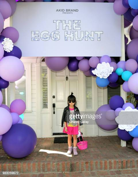 Zooey Miyashi of 'Zooey In The City' attends AKID Brand's 3rd Annual 'The Egg Hunt' at Lombardi House on March 17 2018 in Los Angeles California