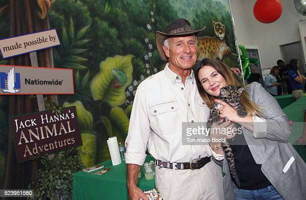 Zoologist Jack Hanna and actress Drew Barrymore attend Safe Kids Day 2016 presented by Nationwide at Smashbox Studios on April 24, 2016 in Los...