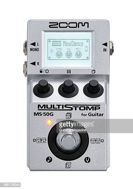 A Zoom MS50G MultiStomp Guitar Pedal photographed on a white background taken on October 9 2012