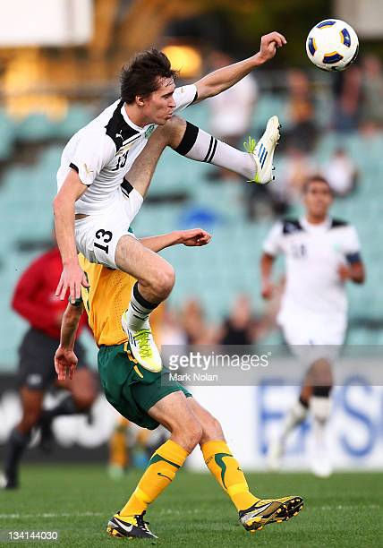 Zooteev Oleg of Uzbekistan in action during the 2012 Olympic Games Asian Qualifier Third Round match between Australia and Uzbekistan at Parramatta...