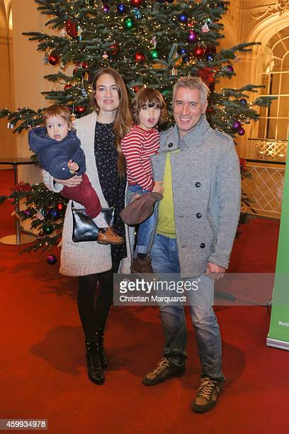 Zora Holt Ralph Herforth and kids Levin and Marie attend the 'Mein Mali' Book Presentation at Komische Oper on December 4 2014 in Berlin