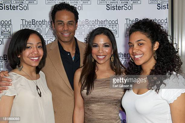 Zora Howard Adam LazarreWhite Maya Gilbert and Elizabeth Acevedo attend The Brotherhood/SisterSol Fundraiser at The Beverly Hilton hotel on March 26...