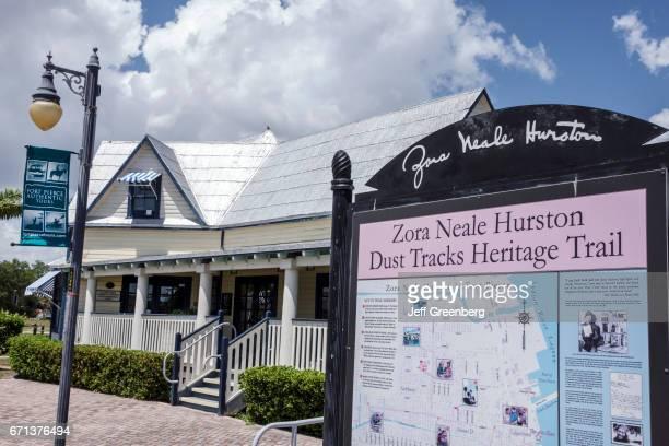 Zora Neale Hurston Dust Tracks Heritage Trail map sign