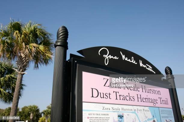 Zora Neale Hurston Dust Tracks Heritage Trail marker sign