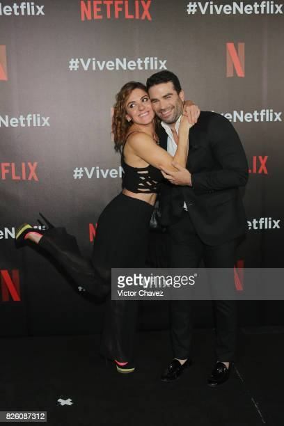 Zoraida Gomez and Alejandro Nones attend the Vive Netflix 2017 at Museo Casa de la Bola on August 2 2017 in Mexico City Mexico