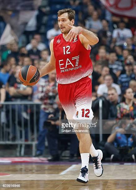 Zoran Dragic of Armani in action during the 2016/2017 Turkish Airlines EuroLeague Regular Season Round 8 game between Crvena Zvezda MTS Belgrade...