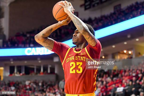 Zoran Talley Jr #23 of the Iowa State Cyclones shoots the ball during the game against the Texas Tech Red Raiders on February 7 2018 at United...