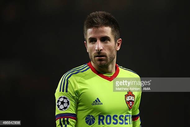 Zoran Tosic of CSKA Moscow during the UEFA Champions League match between Manchester United and PFC CSKA Moskva on November 3 2015 in Manchester...