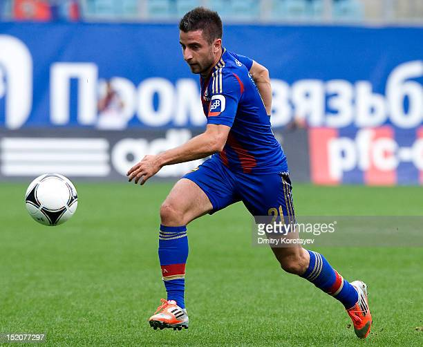 Zoran Tosic of PFC CSKA Moscow in action during the Russian Premier League match between PFC CSKA Moscow and FC Alania Vladikavkaz at the Arena...