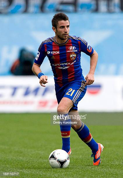 Zoran Tosic of PFC CSKA Moscow in action during the Russian Premier League match between PFC CSKA Moscow and FC Dynamo Moscow at the Arena Khimki...