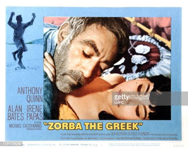 Zorba The Greek, lobbycard, Anthony Quinn, Irene Papas, 1964.