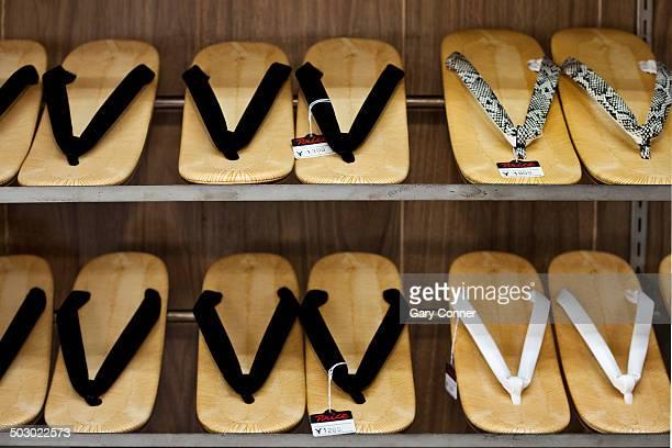 Zori sandals in shop