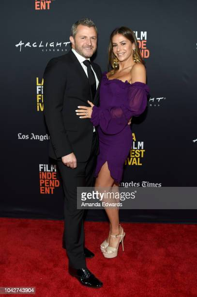 """Zorin Finkelsen and Chloe Simpson attend the Closing Night Screening of """"Nomis"""" during the 2018 LA Film Festival at ArcLight Cinerama Dome on..."""