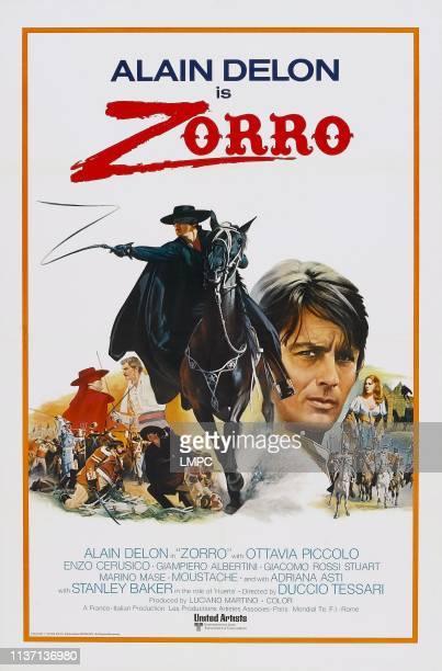 Zorro poster US poster art Alain Delon 1975