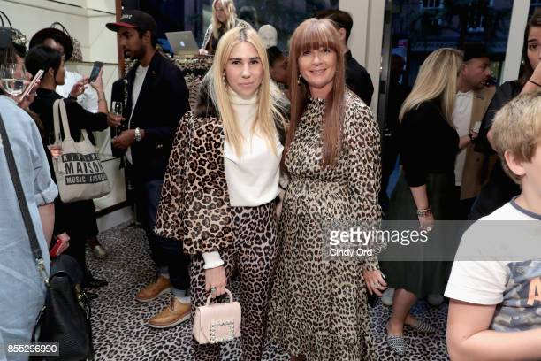 Zosia Mamet and Deborah Lloyd attend the Leopard Leopard Leopard PopUp Shop hosted by Kate Spade New York Man Repeller on September 28 2017 in New...