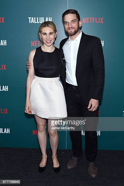 Zosia Mamet and Evan Jonigkeit attend a special screening of 'Tallulah' hosted by Netflix at Landmark Sunshine Cinema on July 19 2016 in New York City