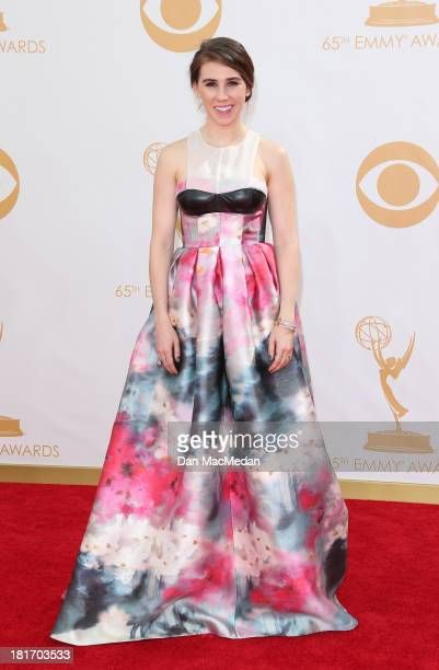 Zosia Mamet arrives at the 65th Annual Primetime Emmy Awards at Nokia Theatre LA Live on September 22 2013 in Los Angeles California