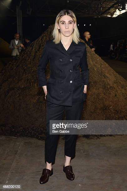 Zosia Mamet attends 31 Phillip Lim Spring 2016 during New York Fashion Week at Pier 94 on September 14 2015 in New York City