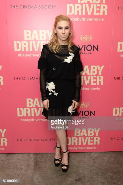 Zosia Mamet attends a screening of 'Baby Driver' hosted by TriStar Pictures and The Cinema Society at The Metrograph on June 26 2017 in New York City