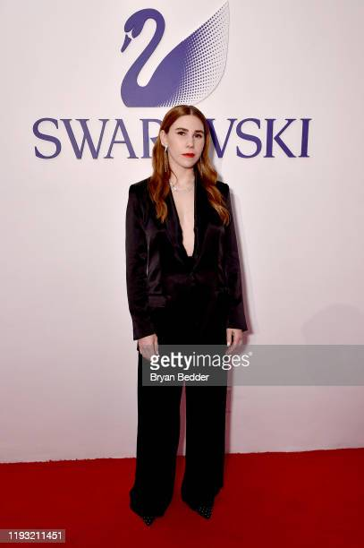 Zosia Mamet attends Naughty Or Nice: A Swarovski Holiday Celebration on December 10, 2019 in New York City.