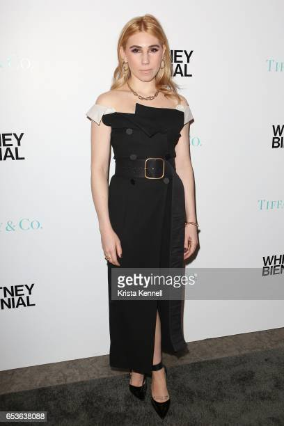 Zosia Mamet attends the 2017 Whitney Biennial at The Whitney Museum of American Art on March 15 2017 in New York City