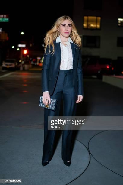 Zosia Mamet attends the 2018 Guggenheim International Gala preparty in the Upper East Side on November 14 2018 in New York City