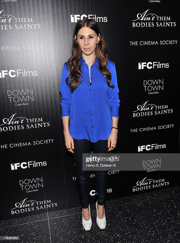 Zosia Mamet attends the Downtown Calvin Klein with The Cinema Society screening of IFC Films' 'Ain't Them Bodies Saints' at Museum of Modern Art on August 13, 2013 in New York City.