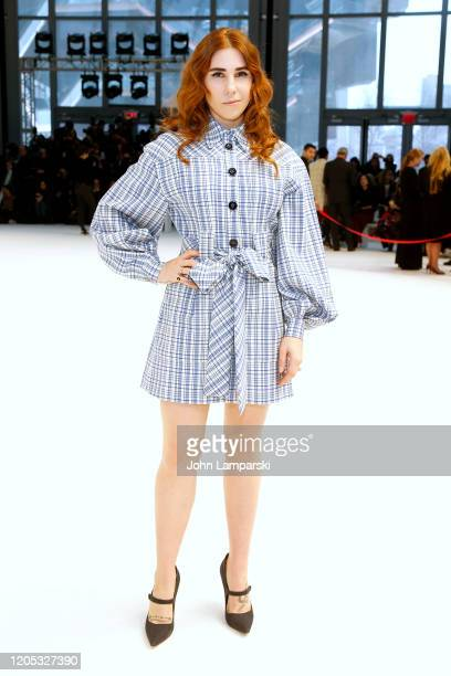 Zosia Mamet attends the front row for Carolina Herrera during New York Fashion Week on February 10, 2020 in New York City.