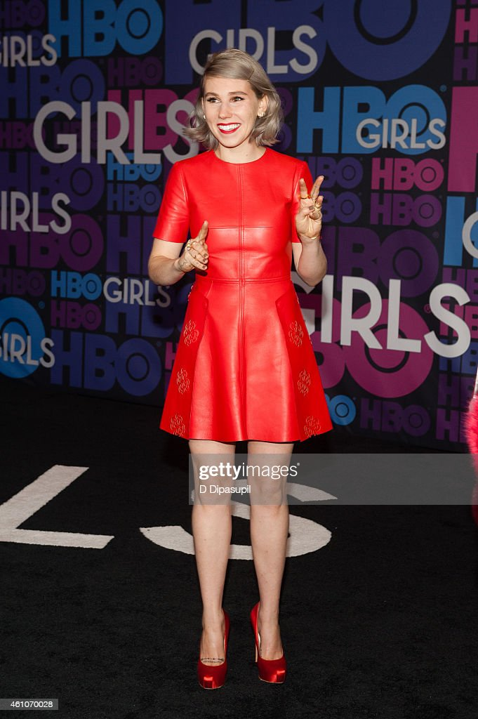 Zosia Mamet attends the 'Girls' Season Four Premiere at the American Museum of Natural History on January 5, 2015 in New York City.